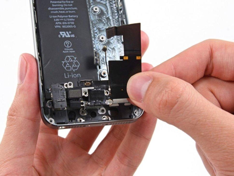 замена гнезда iphone 5s