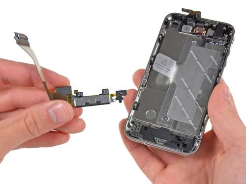 замена разъема зарядки iphone 4s